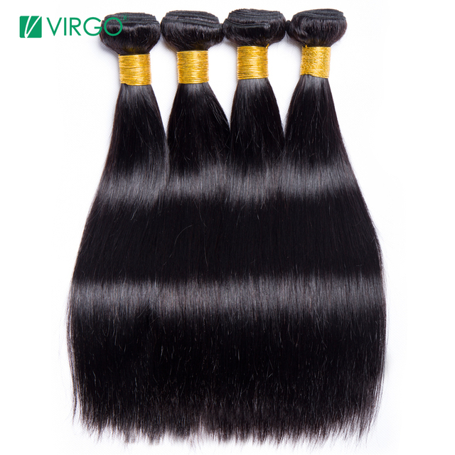 4 Bundle Deals Brazilian Straight Hair Bundles Human Hair Weave