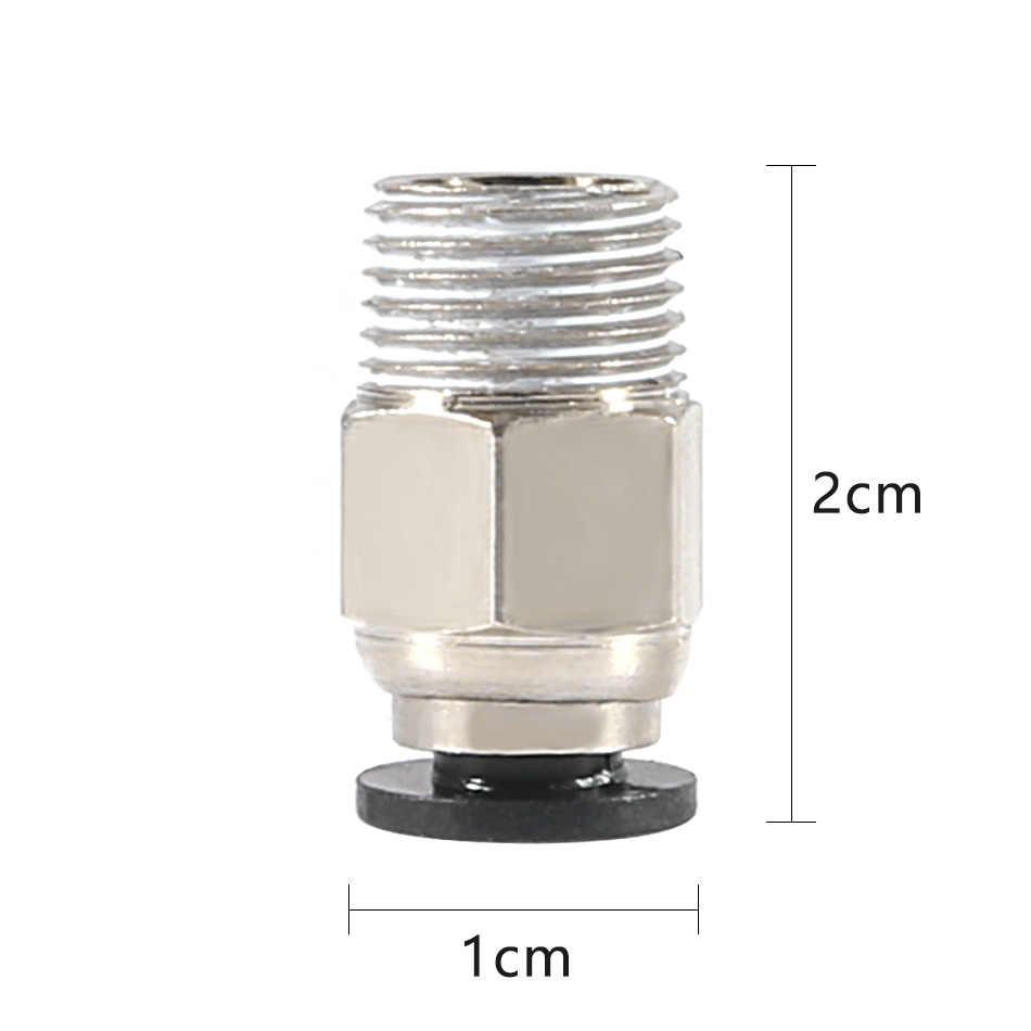 Пневматический соединитель PC4-01 1,75 мм 3 мм PTFE трубка БЫСТРОРАЗЪЕМНАЯ муфта для E3D V6 для j-головных фитингов Reprap Hotend подходит для 3D-принтеров