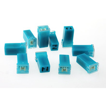 10 Pcs  20A 2 Terminal Plug In Type Cartridge PAL Fuse DC 32V Light Blue 10 pcs littelfuse smd smt 0603 very fast acting fuse 2a 32v code n new