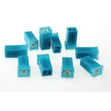 10 Pcs  20A 2 Terminal Plug In Type Cartridge PAL Fuse DC 32V Light Blue
