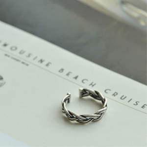 Вязанные Корейские дикие кольца из стерлингового серебра 925 пробы, темпераментные Модные женские модные изменяемый размер, открытые кольца...