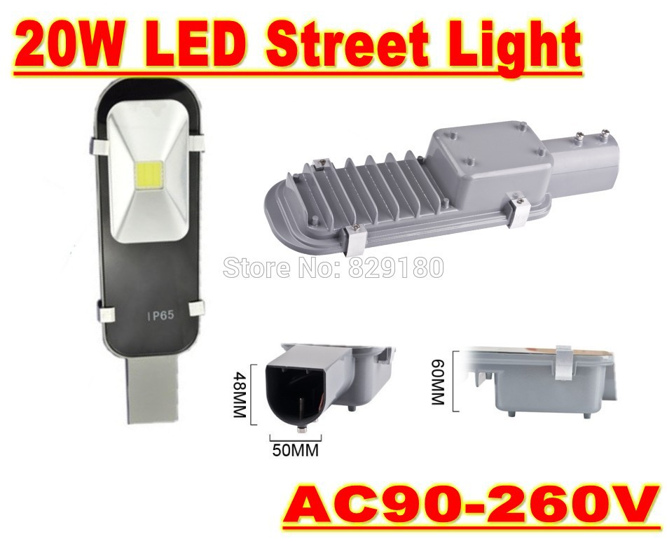 Led Street light 20W AC90-260V Led Street Off Road Light Lamp IP65 Outdoor Lighting Warm/natural white/Cold White Streetlight led 50w streetlight 12v 24v cob solar street light road lamp garden park path light warm cold natural white outdoor lighting