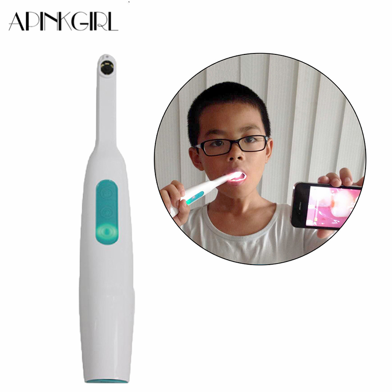 APINKGIRL 720P Wifi Intraoral Wireless Dental Camera LED Light Monitoring Inspection for Dentist Oral Real-time Video for iPhone dental endodontic root canal endo motor wireless reciprocating 16 1 reduction
