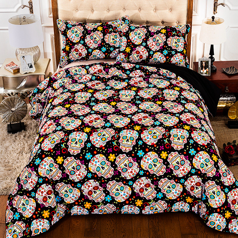 Floral With Pillow Cases Bedding quilt cover set King Size Duvet Cover Set
