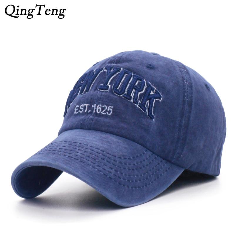 Fashion Cotton   Baseball     Cap   Men's Snapback Hats For Women Hip Hop Gorras Bone Embroidered New York   Caps   Dad Hat