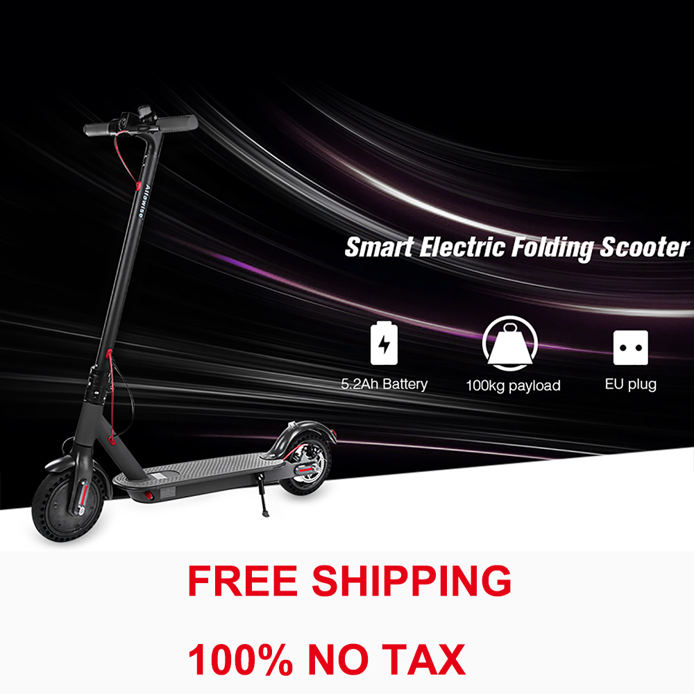 T0 Folding Electric Scooter 250W Motor Two Wheels Shockproof 5.2Ah Battery / EU Plug 8.5 Inch Tire E ABS Anti Lock Brake System