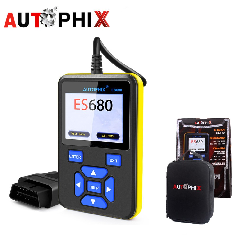 Autophix ES680 Car Diagnosti Obd2 Tools SRS ABS Scan Tools For VW Audi Seat Skoda Jetta Golf Beetle Touareg GTI Passat Scanner free ship turbo k03 29 53039700029 53039880029 058145703j n058145703c for audi a4 a6 vw passat 1 8t amg awm atw aug bfb aeb 1 8l