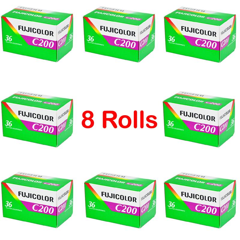 Prix pour 8 roll/lot fujifilm c200 couleur 35mm film 36 l'exposition pour 135 format caméra lomo holga 135 bc lomo caméra dédié