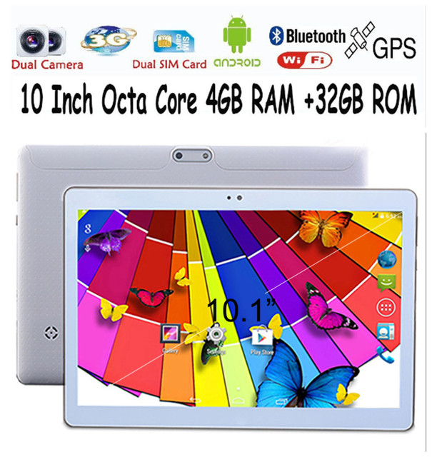 10 Inch Android Tablets PC 4GB 32G WIFI Bluetooth Dual camera 1280*800 lcd 10 tab pc Octa Core MTK8752