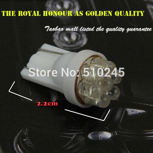 100X Wholesale new 168 194 501 W5W T10 7 LED Car Wedge Side Light Lamp Bulb DC 12V White auto styling