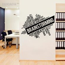 Vinyl Wall Decal Sticker Quote Office Brainstorming Space Business Words Cloud Interior DIY Home Decor Mural JG4096
