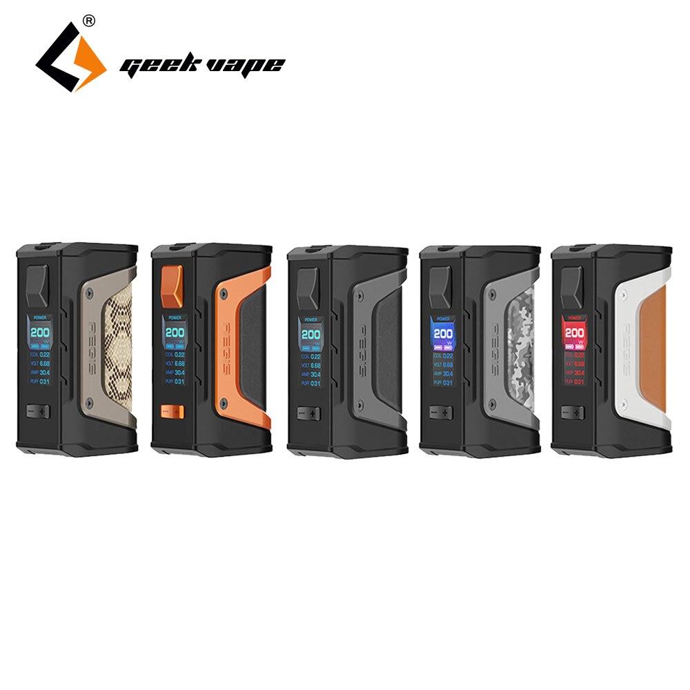 2pcs/lot New GeekVape Aegis Mod aegis Legend 200W TC Box MOD e cigs No Battery for Geekvape zeus RTA Vape MOD