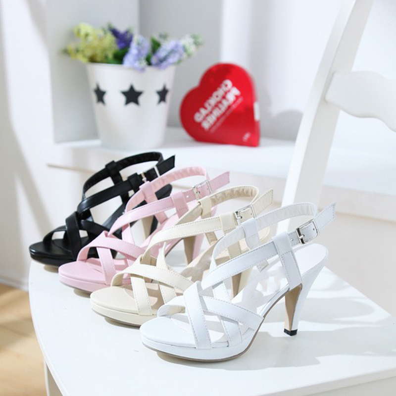 Fashion Women Gladiator Outdoor Casual Dress Summer Shoes Ladies Female Open Toe Platform Shoes Woman High-Heeled Shoe women sandals shoes 2017 summer shoes woman gladiator wedges cool fashion rivet platform female ladies casual shoes open toe