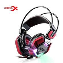 XIBERIA V6 Over-ear Stereo Gaming Headset diadema LLEVÓ La Luz de Auriculares de Juegos de PC USB de la Computadora de los Auriculares Con Micrófono