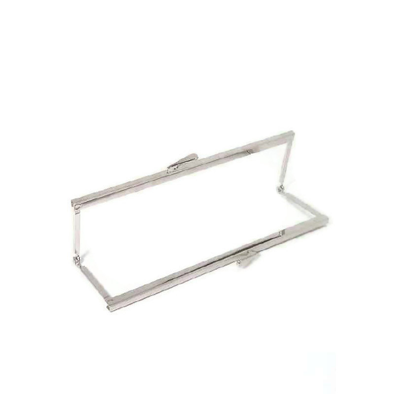 8 x3 Nickel Purse Frame With Open Top Channel