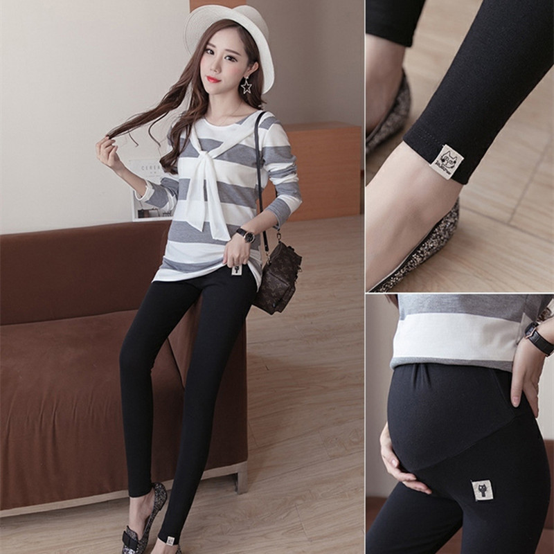 Large Size Casual Maternity Pants 3Colors Spring Autumn Pregnant Women Leggings Adjustable Waist Maternity Clothing Trousers
