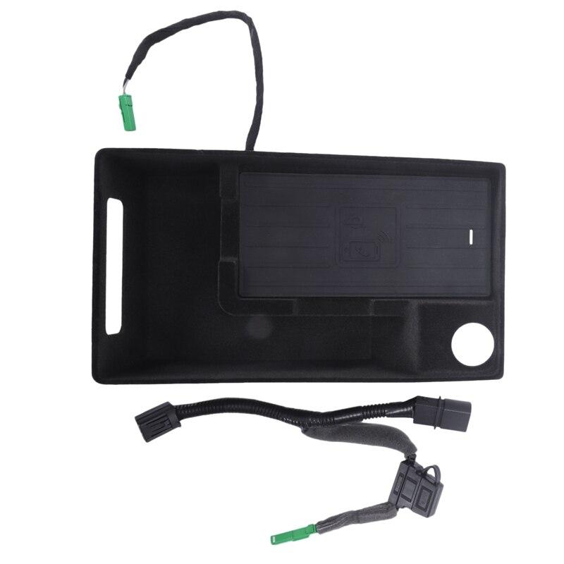 10 W Auto Mobiele Telefoon Qi Draadloze Opladen Pad Module Console Opbergdoos Voor Audi A4L A5 S4 2017 2019 Auto Accessoires - 2
