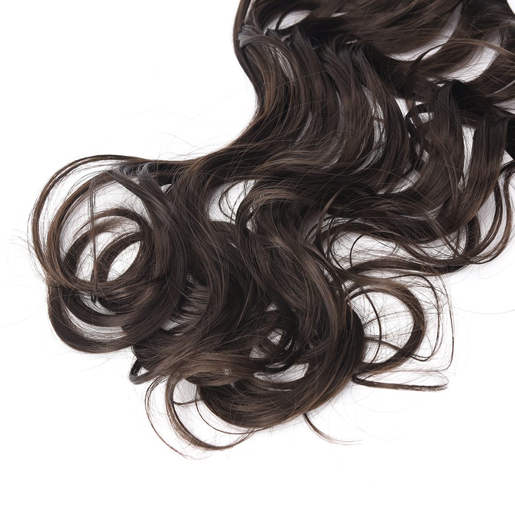 Natural Female Hair Pieces Long Wavy Colored Hair Wigs Heat