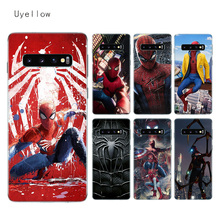 Uyellow Spiderman Marvel Phone Case For Samsung S6 S7 S8 S9 S10 S10E Plus J4 J6 J8 A6 A7 A8 A9 2018 Note 8 9 Soft TPU Cover