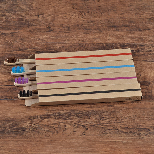 20 Piece Eco Friendly bamboo toothbrush wooden Tooth Brush Soft bristle Tip Charcoal for adults oral care LOGO custom toothbrush 5