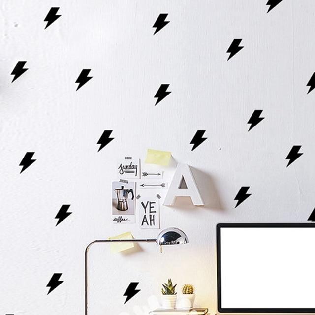 Tiny lightnings patrón pared, mini rayo sticker Decal niños ...