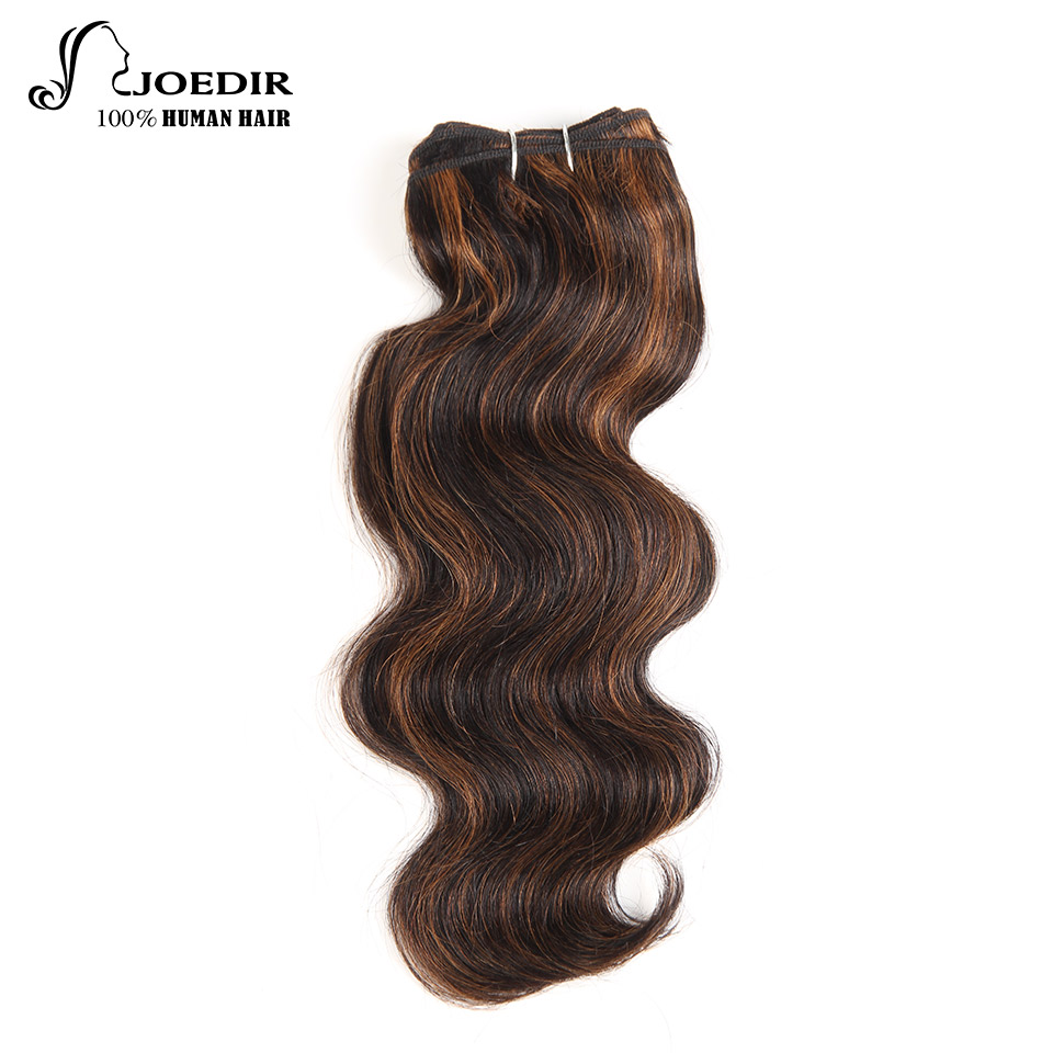 Joedir Pre-colored Raw Indian Hair Bundles 100% Human Hair Body Wave Bundles Brown Blonde Piano Color P4/30 Free Shipping Hair Weaves