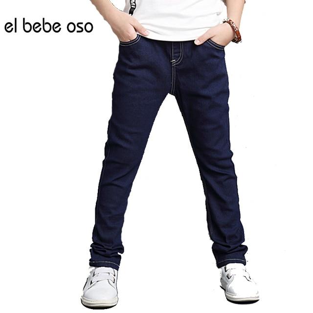 el bebe oso Kids Jeans For Boys Pants Causal Elastic Waist Children Denim Trousers Boys Clothing Cowboy Spring Autumn XL600