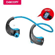 Cheaper DACOM G06 Wireless Bluetooth Headphones Sports Neckband Earphone IPX5 Waterproof Stereo Headset Earbuds for iPhone 5 6 7 8 Sony