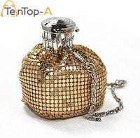 High Quality Mini Cute Aluminum Plates Bag Aluminum Soft Coin Purse Lovely Small Metal Handbag Gold