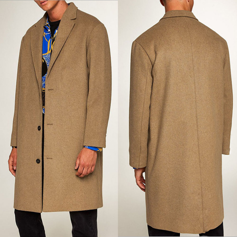 HTB1jyEMKFzqK1RjSZFoq6zfcXXav 2019 New Fashion Men's Wool Coat Winter Trench Coat Outwear Overcoat Long Sleeve Jacket Trench M-3XL