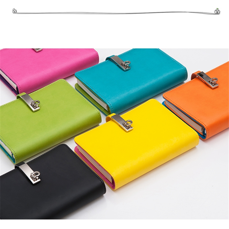Cute Spiral Leather Notebook Stationery Fine Planner Notebooks Diary With Lock Office School Supplies Multifunction Notepad ann notebook korea school supplies stationery cute happy graffiti leather surface solid color printing loose leaf diary notepad