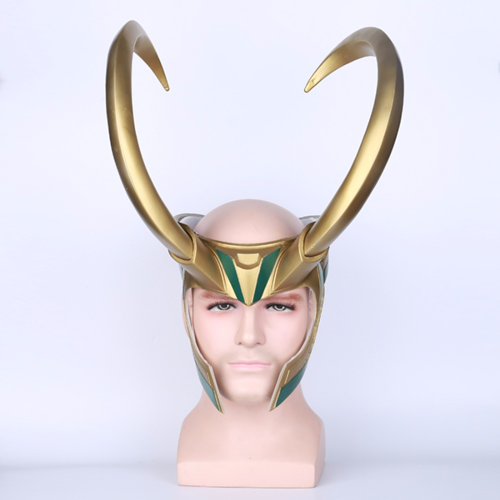 New Thor 3 Ragnarok Loki Mask Latex Helmet Loki Cosplay Costume Adult Halloween Mask