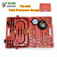 Tu 443 Делюкс манометр топлива Давление датчик Двигатели для автомобиля тестирование комплект топливный насос тестер