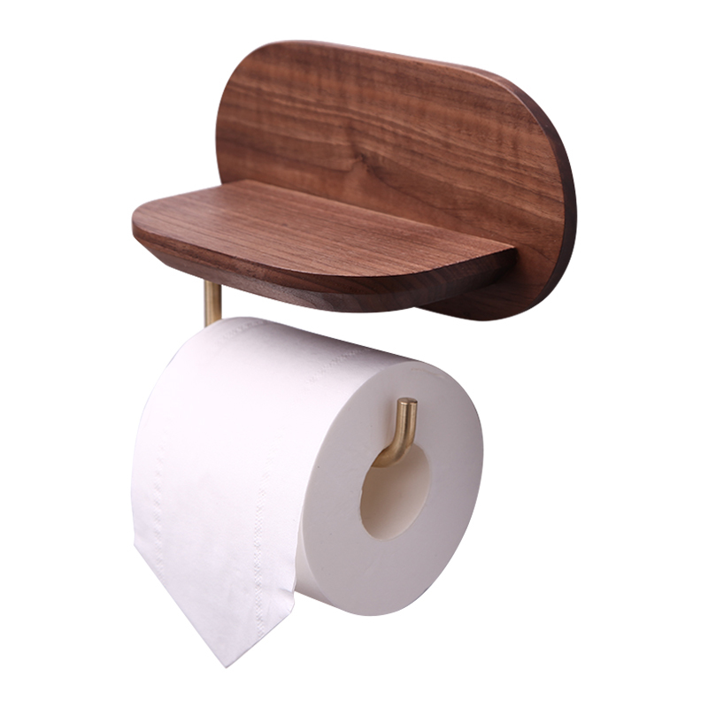 A1 Wooden creative porous bathroom roll paper mobile phone holder paper towel rack towel rack LO67530 цена