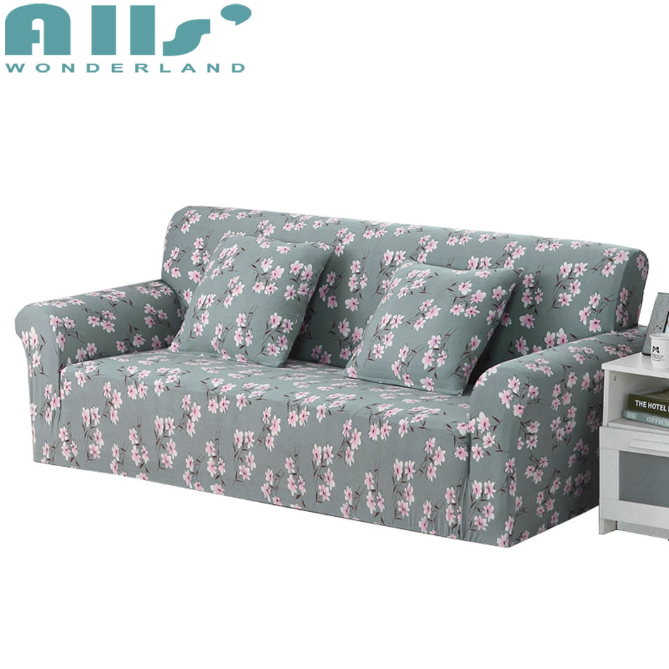 Cheap Sofa Cover Elasticity Stretch Pink Flower Couch Slipcover Furniture Protector Spandex Couch Cover Modern Design