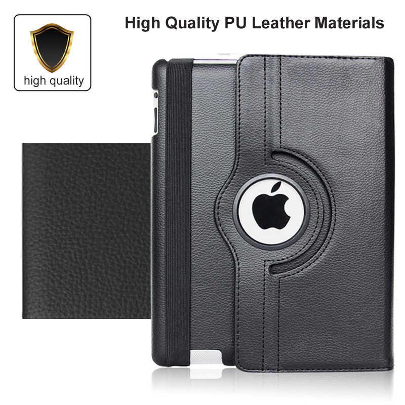 360 Memutar Case untuk Apple iPad 2/3/4 Air 1/2 A1430 A1458 A1460 IPad2 IPad3 IPad4 Air1 Air2 Tablet cover untuk Saya Pad 2018 2017 9.7