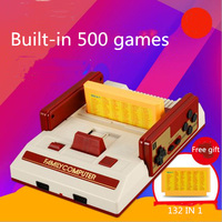 New product classic red and white video game console to send 132 in 1 game card for family game console support dropping