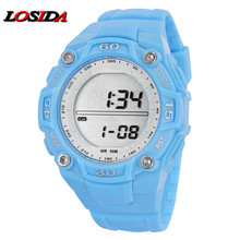 Fashion Losida Brand Children Watches LED Digital Kid Quartz Watch Student Multifunctional Waterproof Step Counter Watch relogio