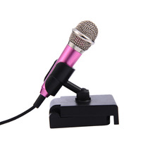 Mini Microphone 3.5mm Fashion Portable Stereo Condenser Mic For IPhone IOS Android Smartphone PC Laptop Chatting Singing Karaoke