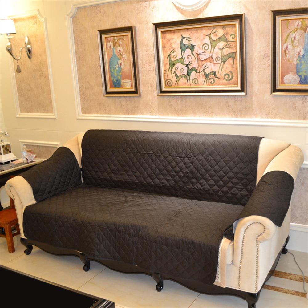 Waterproof 3 Seat Sofa Cover Slipcover Reversible