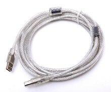 U415 USB argent plaqué double circulaire USB2.0 câble haute-vitesse DAC transmission ligne 1.5 m