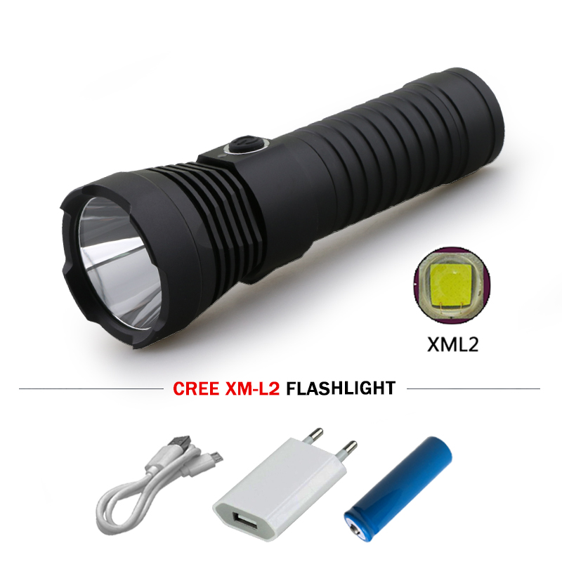 USB led flashlight lanterna militar 26650 or 18650 battery torch linterna led cree xm l2 waterproof lamp outdoor camping zaklamp