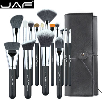 JAF 15pcs Makeup Brushes Tools, Conveniently Portable Make Up Brush Set, Brand Cosmetic Makeup Kit, Free Dropshipping J1531YC-B 1