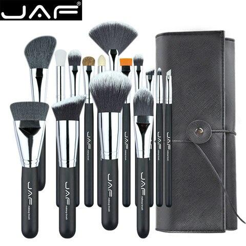 jaf pinceis de maquiagem kit de ferramentas para cosmeticos com estojo portatil 15 pecas j1531yc