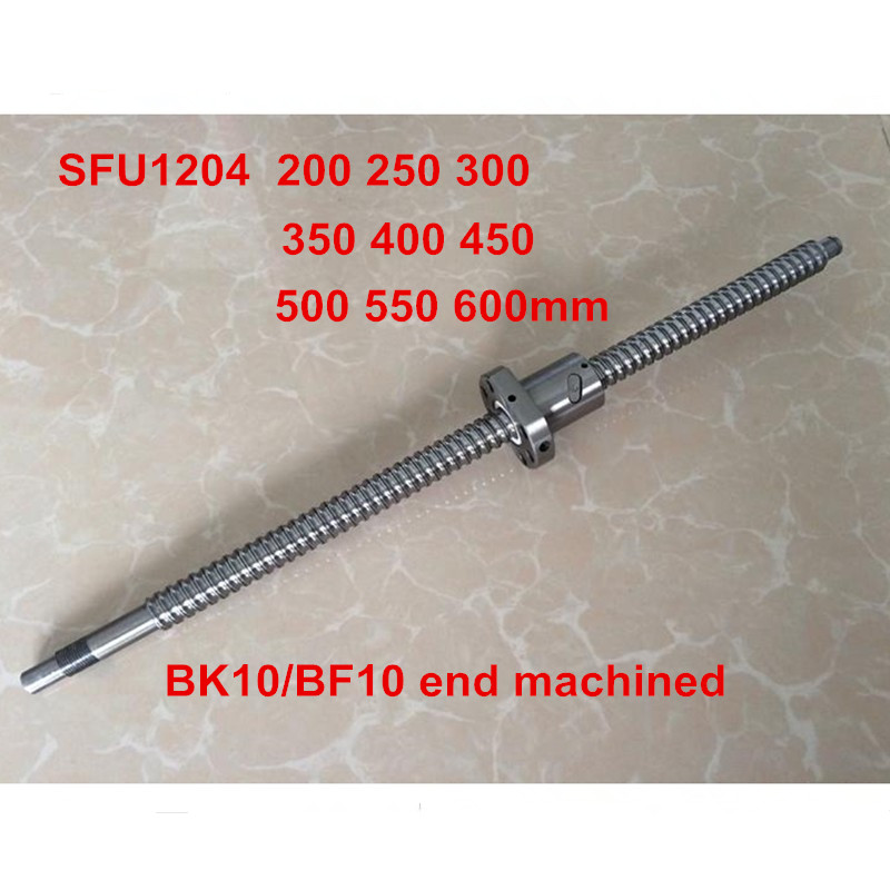 SFU1204 200mm 250mm 300mm 350mm 400mm 450mm 500mm 550mm 600mm ball screw C7 with end machined CNC parts RM1204 tbi ball screw set sfu1204 400mm with end machined