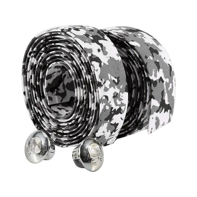 Soft Foam Cycling Road Bike Bicycle Handlebar Tape Belt Reflective Grip Wrap Anti-Slip Anti-Sweat Strap With 2 Bar Plugs 5