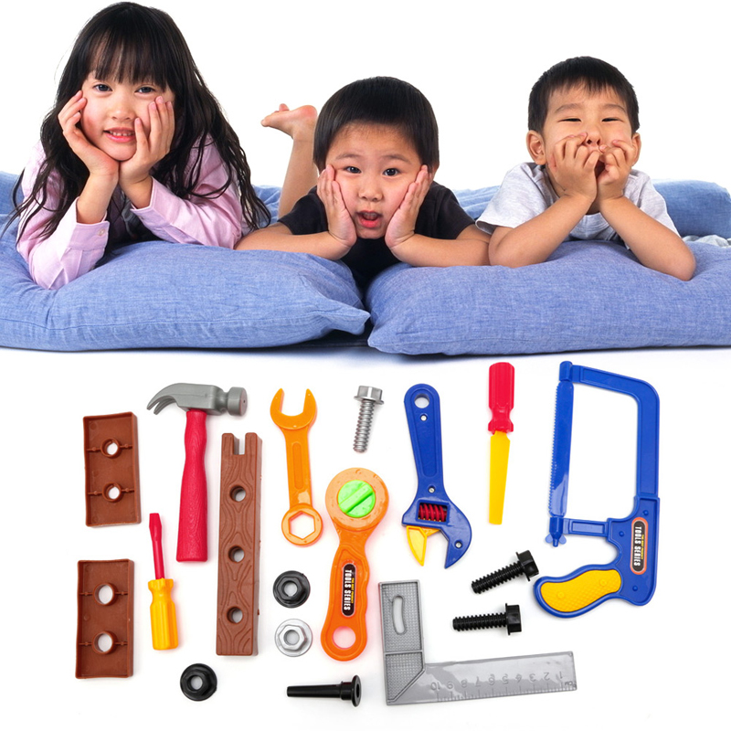 2017 Kids Childrens Boys Toy Building Tool DIY Builder Construction Play Gift 19Pcs APR24_17