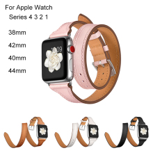 цена на Genuine Leather strap for apple watch band 38mm 42mm bracelet apple watch 40mm for iwatch 4 44mm 40mm series 3 2 1 accessories