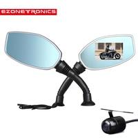 Motorcycle Dvr With Tow Cameras Rear View Mirror Auto Digital Video Recorder Dash Cam Camera registrator for Motorcycle