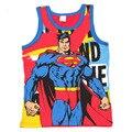 4-10 T 2016 Nueva Ropa de Los Muchachos Niños Sin Mangas T Shirt roupas infantis menino Moda Superhombres Camiseta Ocasional Niños ropa Ben C37